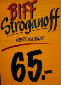 Biff sroganoff
